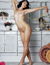 Callista B naked in erotic PURELY PINK gallery