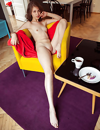 Jasmina nude in erotic YELLOW CHAIR gallery