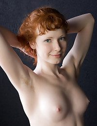 Rochelle is a cheery redhead with enviable alabaster skin, slim physique, rosy and rich brighten nipples, and a nice bush.