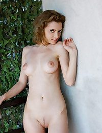 Sabrina's long, slender physique with creamy, sleek complexion, sensitive pointy nipples, slender waist, and lengthy svelte limbs bask encircling the golden afternoon sun on her veranda.
