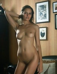 Suntanned beauty with chiseled body, fine-grained physique and well-toned assets.